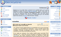 Interface de Geckozone